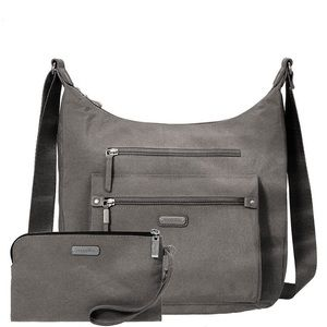 NWT! Baggallini Day Trip Hobo Sterling Shimmer